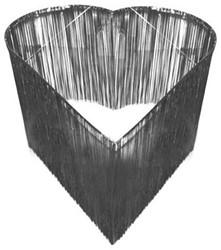 Hangdecoratie Hart-vorm Zilver (150cm)