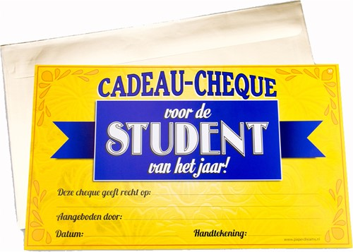Cadeau Cheque Student
