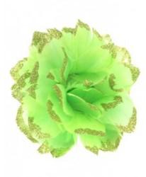 Bloem Groen met Glitter aan IJzerdraad