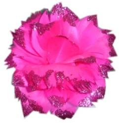 Bloem Pink met Glitter aan IJzerdraad