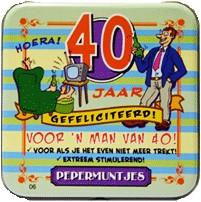Pocket Tin 40 jaar Man