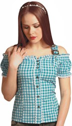 Tiroler Blouse Anne Luxe Turquoise