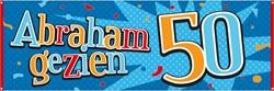 Banner 50 Abraham Gezien 74x220cm