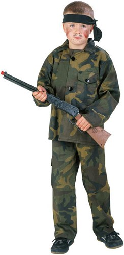 Legerkostuum Rambo voor kinderen