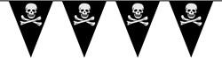 Vlaggenlijn Piraat Doodshoofd 6mtr.