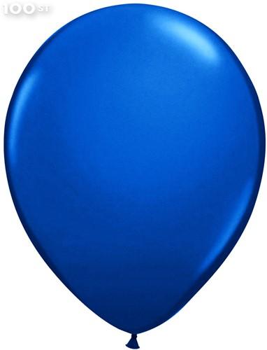Ballonnen Metallic Blauw 35cm - 100 stuks