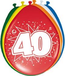 Ballonnen 40 jaar 8st