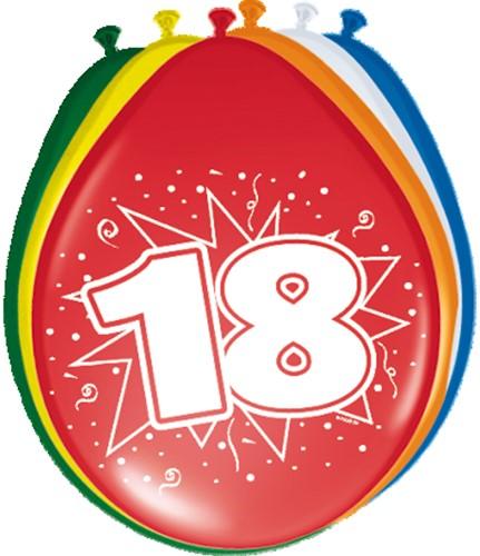 Ballonnen 18 jaar 8st