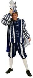 Kostuum Prins Carnaval 3 dlg. Blauw