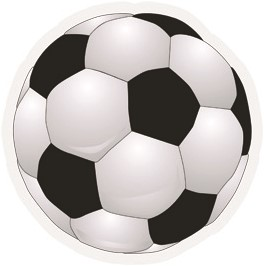 Raamsticker Voetbal 40CM