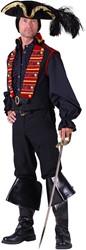 Piraten/Steampunk Herenvest Rood-Zwart Luxe