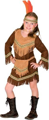 Indianenpakje Luxe Bruin voor meisjes
