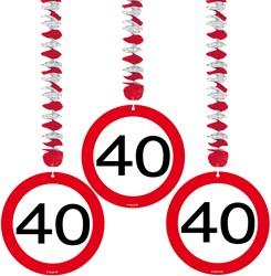 Hangdeco 40 jaar Verkeersbord