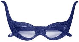 Bril Cruella Glitter Blauw