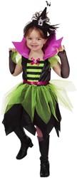Heksenjurk Groen-Zwart voor meisjes
