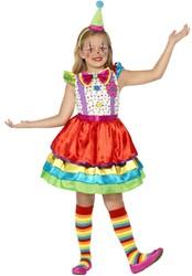 Clownsjurkje Luxe voor meisjes