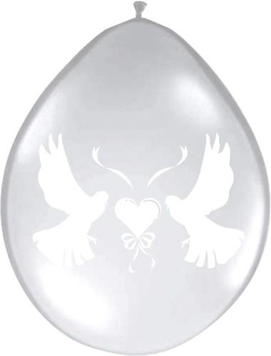 Ballonnen Duif Transparant 8st