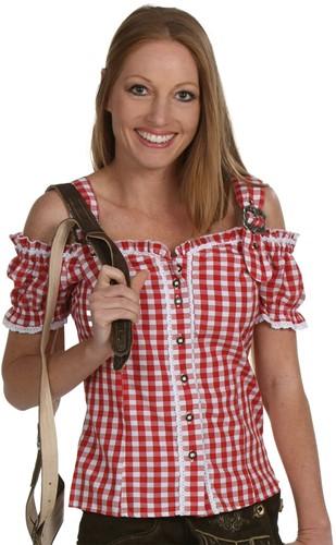 Tiroler Blouse Anne Luxe Rood
