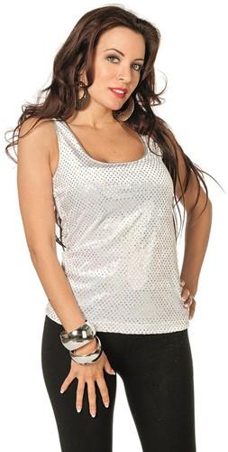 Glitterhemdje Wit/Zilver