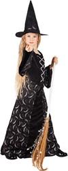Heksenjurk Midnight Witch voor meisjes