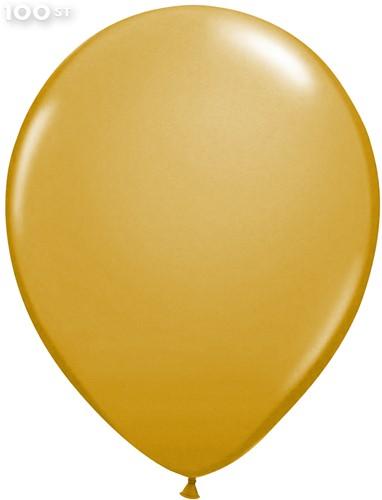 Ballonnen Metallic Goud 35cm - 100 stuks