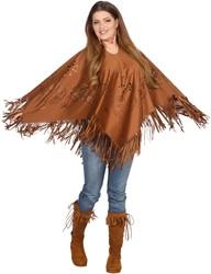 Hippie Poncho Bruin voor dames