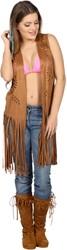 Hippie Vest Lang Bruin voor dames