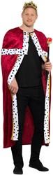 Verkleedset Koning - Mantel, Kroon en Scepter
