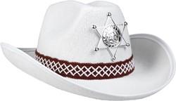 Kinder Cowboyhoed Sheriff Wit