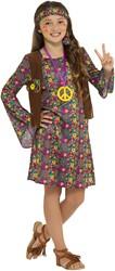 Hippie Jurkje Peace Flowers voor meisjes