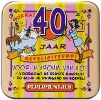 Pocket Tin 40 jaar Vrouw
