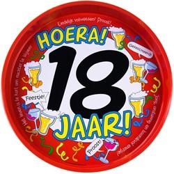 Dienblad Hoera! 18 jaar!