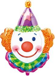 Folieballon XL Clown (63x83cm)