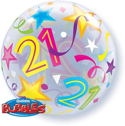 Bubble Ballon 21 Stars