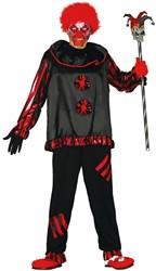 Halloweenkostuum Horror Clown Zwart/Rood