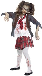 Halloweenkostuum Zombie Schoolmeisje