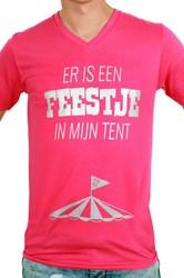 Heren T-Shirt Toppers 'Feestje in mijn Tent'