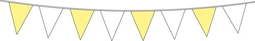 Vlaggenlijn Geel/Wit 6mtr