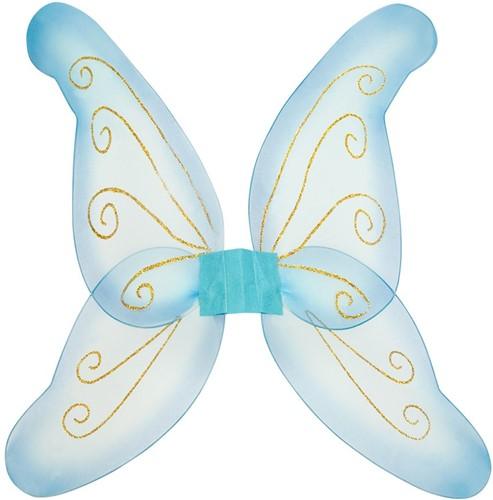 Vlindervleugels Blauw (80x76cm)