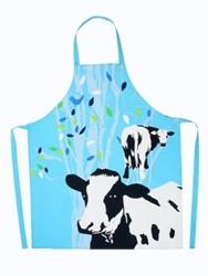 Schort Cow Blue