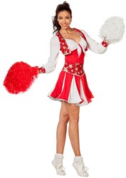 Cheerleaderspakje Luxe Rood-Wit voor dames