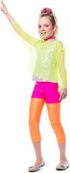 Hotpants Kinderen Neon Pink