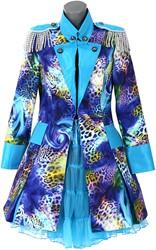 Dames Carnavalsjas Blue Panther Lang Luxe