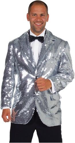 Colbert Pailletten Luxe Gevoerd Zilver