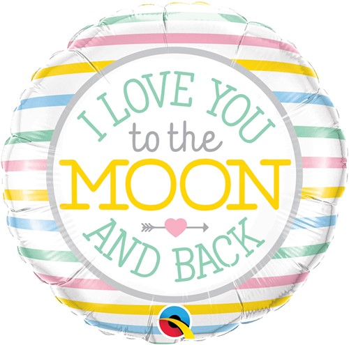 Folieballon Love You To The Moon (45cm)