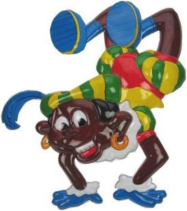 Wanddecoratie Zwarte Piet Acrobatisch