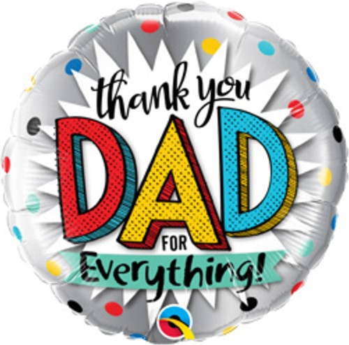 Folieballon 'Thank You Dad for Everything!' (45cm)