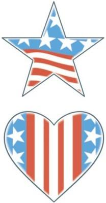 Tattoo Stars Stripes & Hearts