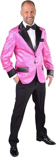 Glitter Colbert Pink voor heren