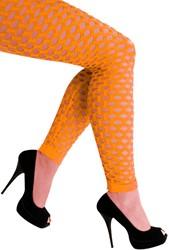 Legging met Gaten Neon Oranje Luxe (Naadloos)